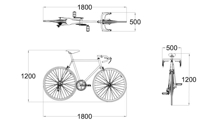 australian cycle parking envelope