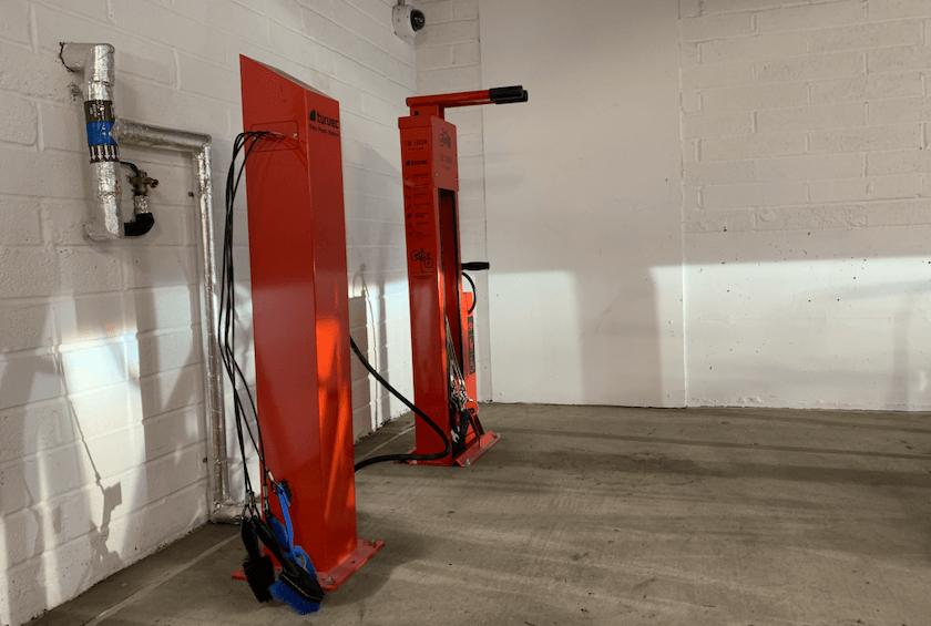 bike repair station red