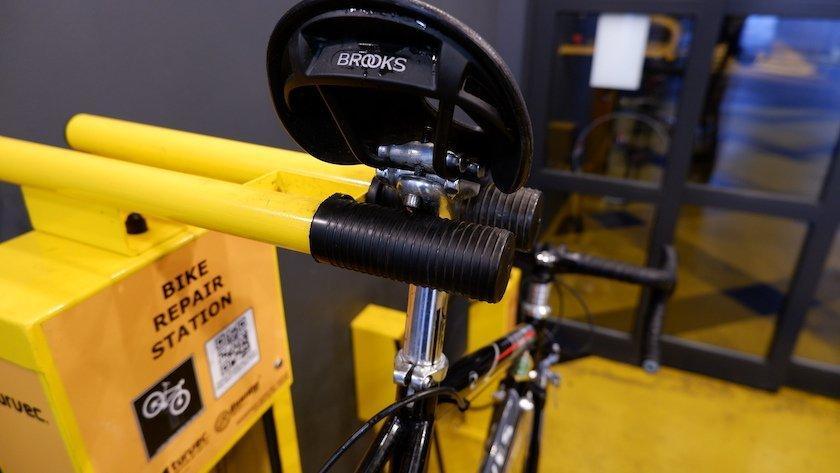 saddle bike repair station