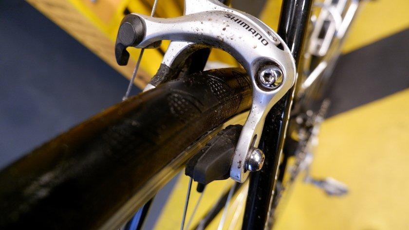 rim brake bike repair station