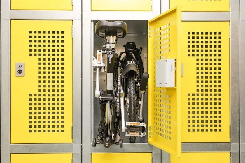 folding bike locker solution