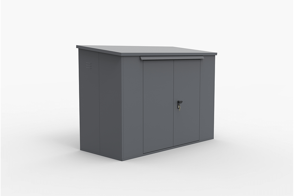 2 Bike Locker in Grey