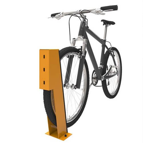 Bike with Wheel Chock Support