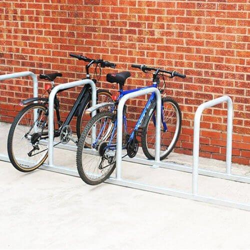 Parking Spaces with Sheffield stands and Welded Fixed Rails