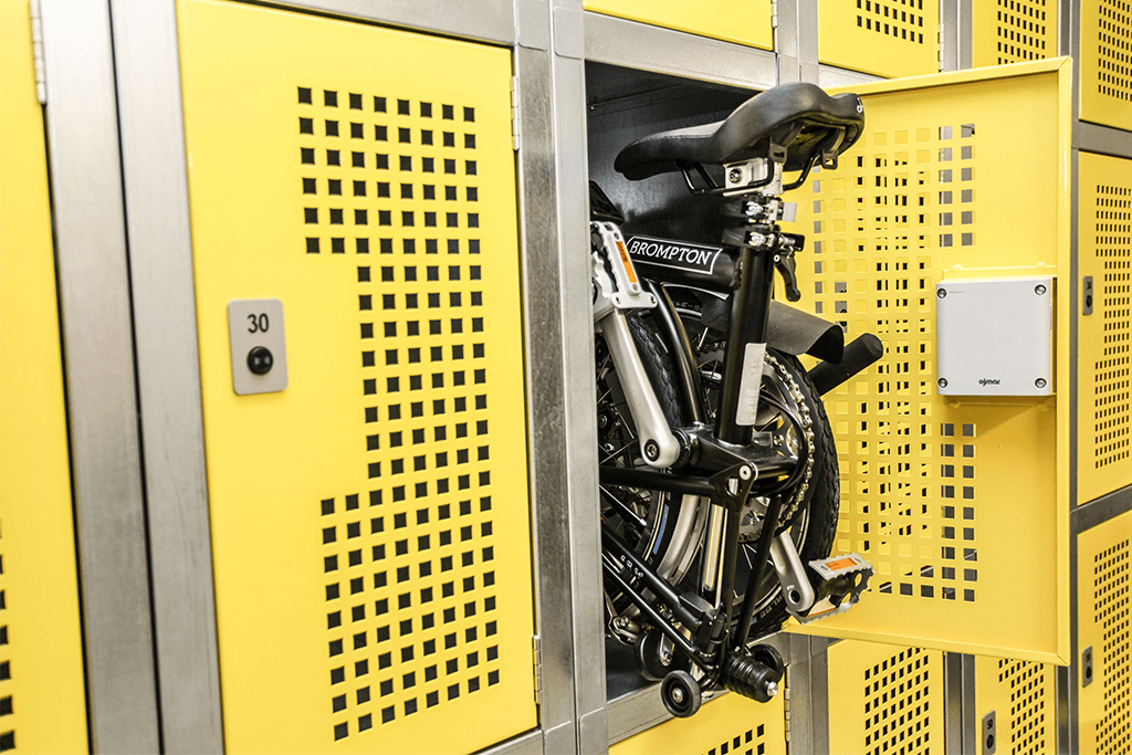 Electronic Locker for Folding Bikes