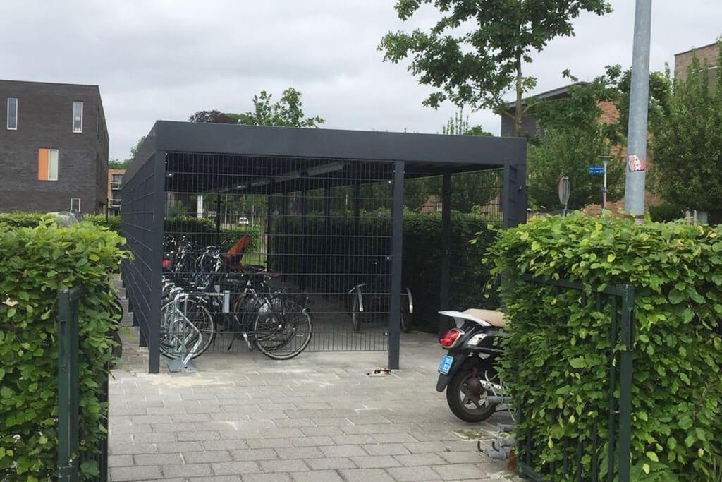 Cubic Mesh Bike Store, an alternative cost-effective to timber bike shed