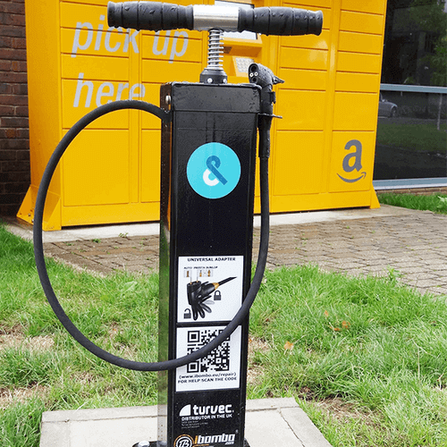 Black Public Bike Pump in UK