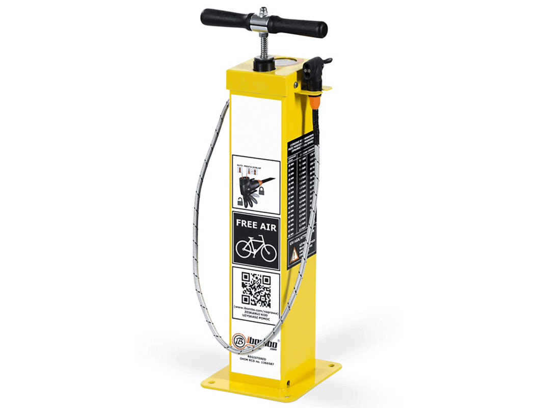 Public Cycle Pump by Turvec comes with 2 year warranty and is a lasting and quick solution on streets