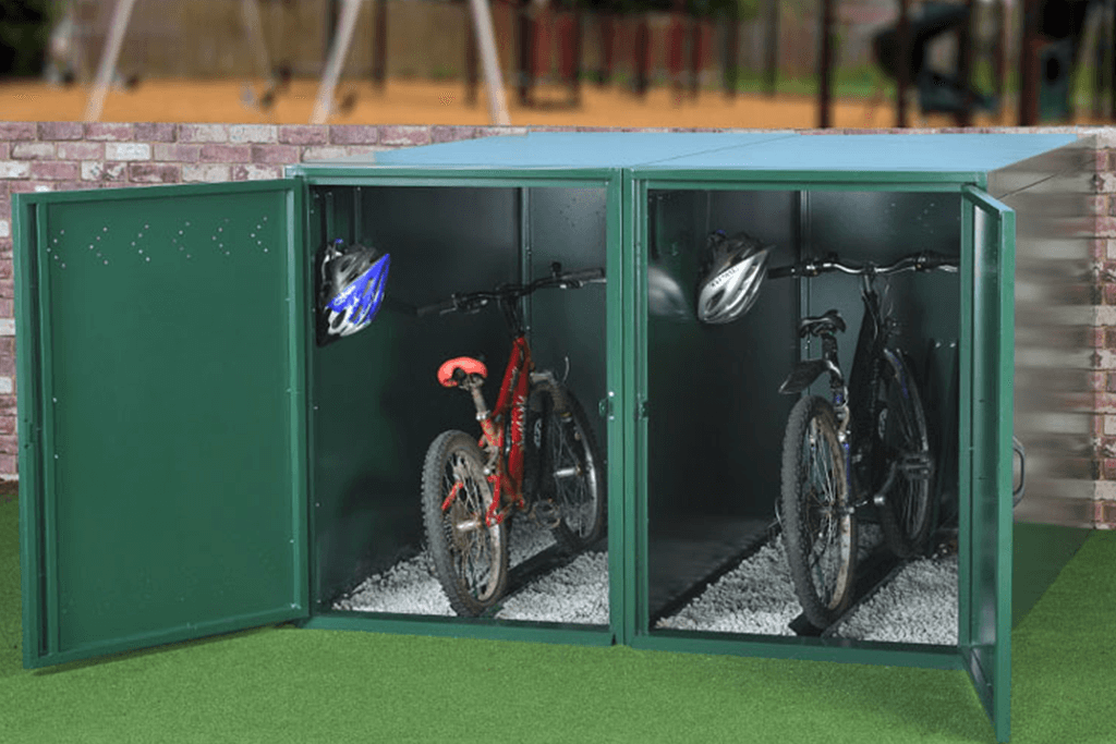 Two-Tier Single Bike Lockers Turvec