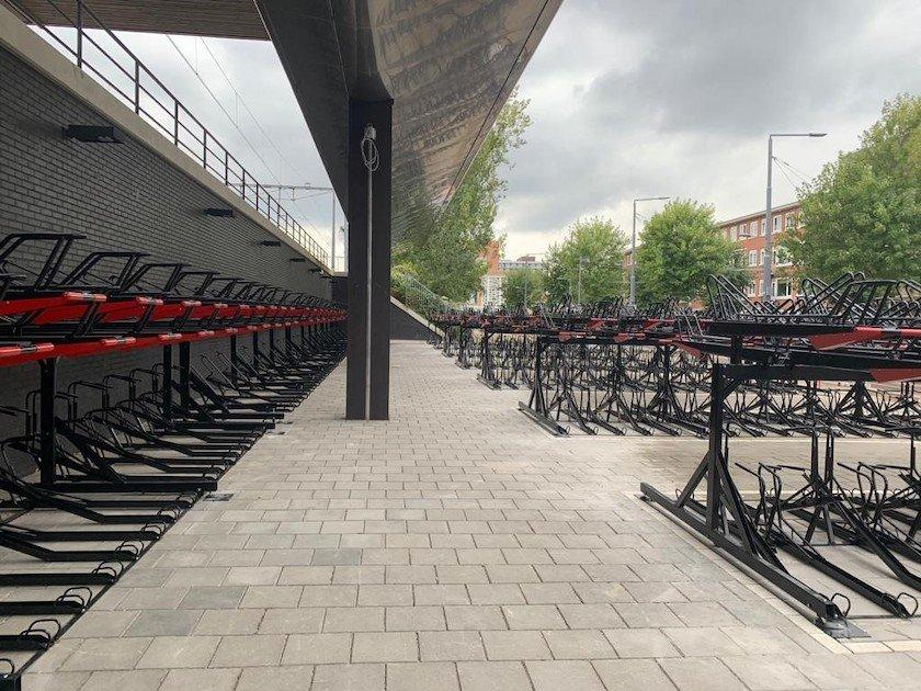 rotterdam two tier dutch bicycle parking